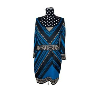 Flying Tomato Blue Tribal Sweater Dress Size Large